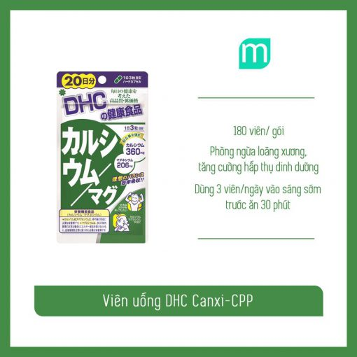 vien-uong-dhc-bo-sung-canxi-cpp-180v