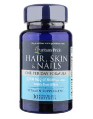 vien-uong-puritans-pride-hair-skin-nails-one-per-day-formula-30-vien