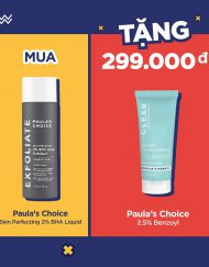 Combo: Mua Paula's Choice 2% BHA Liquid Fullsize Tặng Treatment Paula's Choice 2.5% Benzoyl 15ml